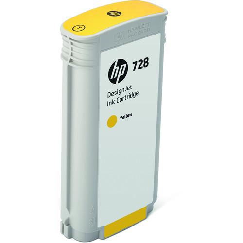 HP 728 Yellow DesignJet Ink Cartridge (130ml)