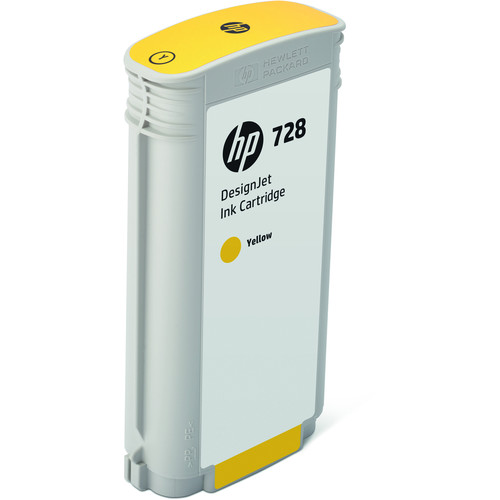 HP 728 Yellow DesignJet Ink Cartridge (130ml)