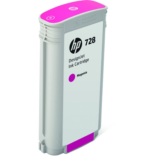HP 728 Magenta DesignJet Ink Cartridge (130ml)