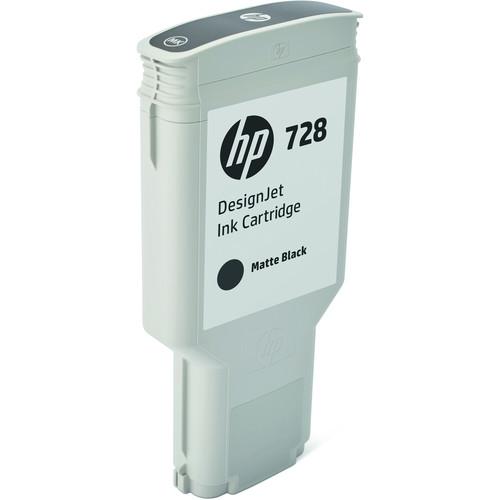 HP 728 Matte Black DesignJet Ink Cartridge (300ml)