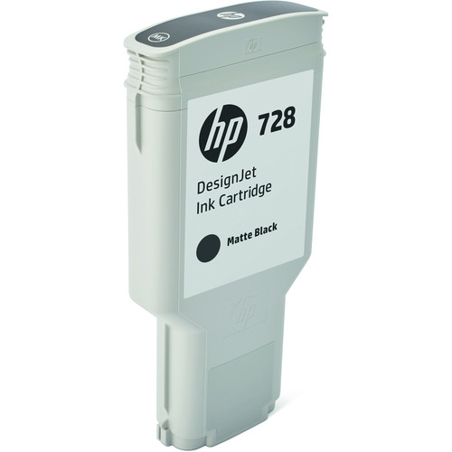 HP 728 Matte Black DesignJet Ink Cartridge (300ml)