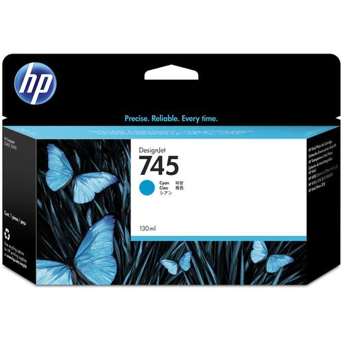 HP 745 DesignJet Cyan Ink Cartridge (130mL)