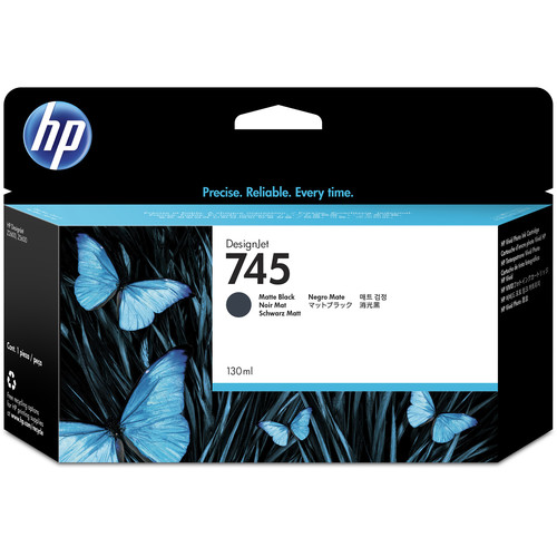 HP 745 DesignJet Matte Black Ink Cartridge (130mL)