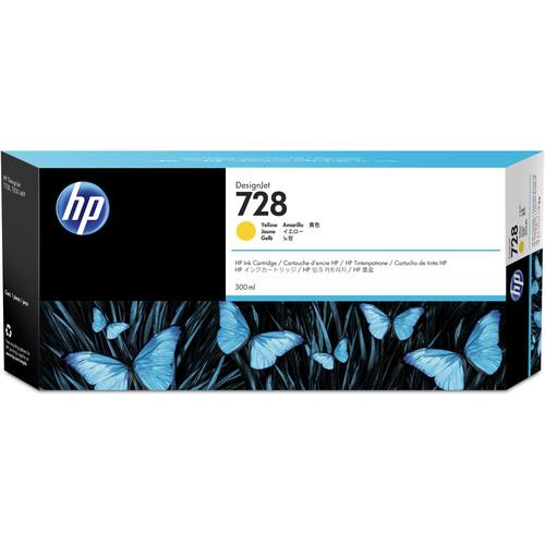 HP 728 Yellow DesignJet Ink Cartridge (300ml)
