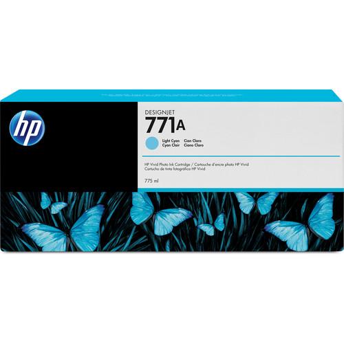HP 771A DesignJet 775mL Light Cyan Ink Cartridge (3-Pack)