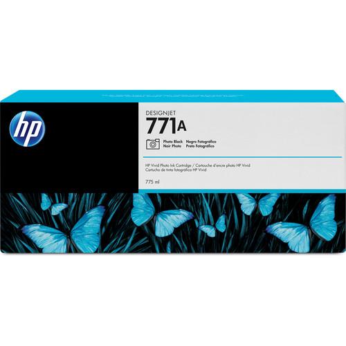 HP 771A DesignJet 775mL Photo Black Ink Cartridge (3-Pack)