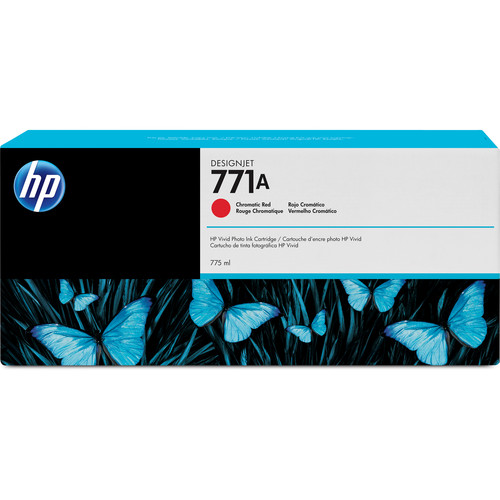 HP 771A DesignJet 775mL Chromatic Red Ink Cartridge (3-Pack)