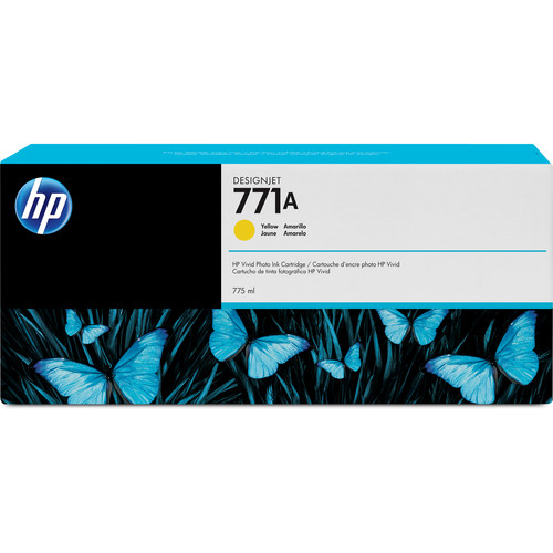 HP 771A DesignJet 775mL Yellow Ink Cartridge (3-Pack)