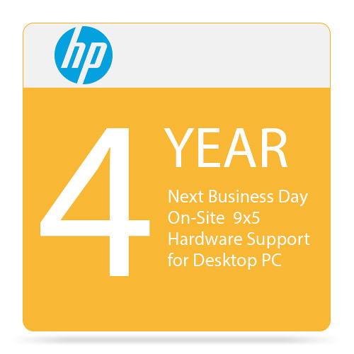 HP Next Business Day On-Site 9x5 Hardware Support for Desktop PC (4 Years)