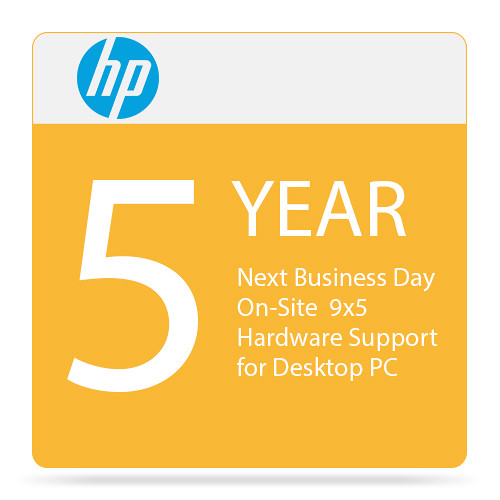 HP Next Business Day On-Site 9x5 Hardware Support for Desktop PC (5 Years)