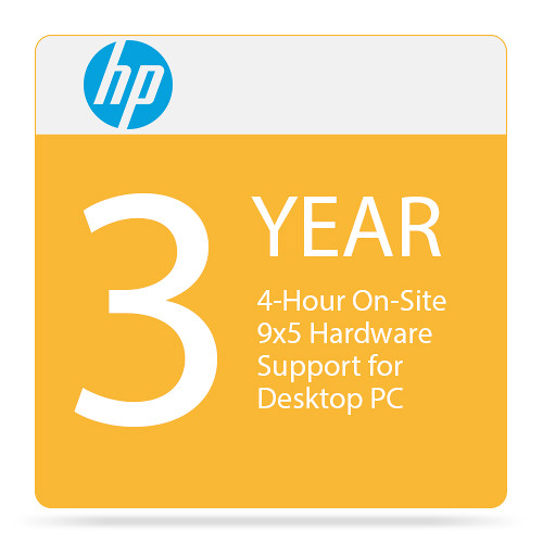 HP 4-Hour On-Site 9x5 Hardware Support for Desktop PC (3 Years)