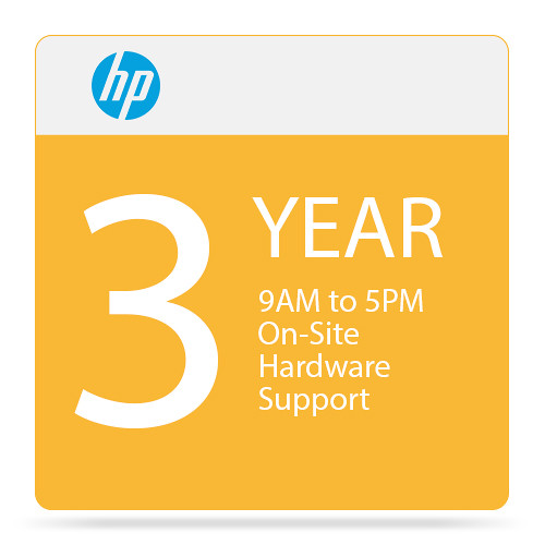 HP On-Site 3-Year Hardware Support with 4-Hour Response Time (9 AM to 5 PM)
