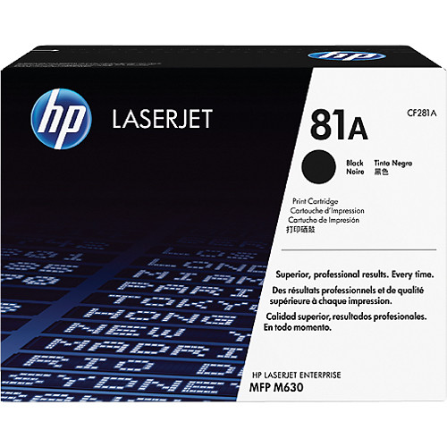 HP 81A Standard Black Toner Cartridge