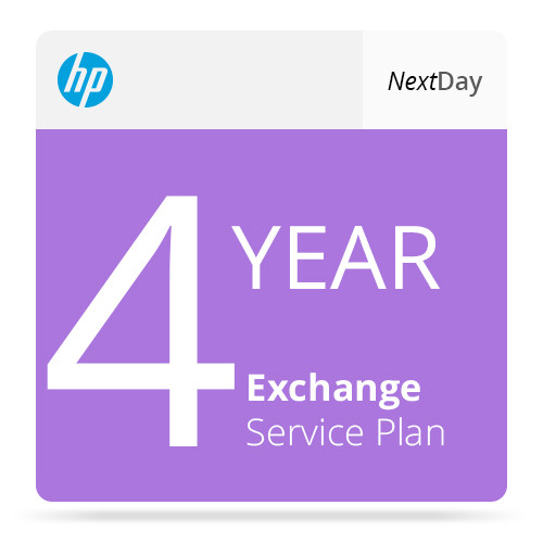 HP 4-Year Next Business Day Exchange Service for LaserJet M602n Printer