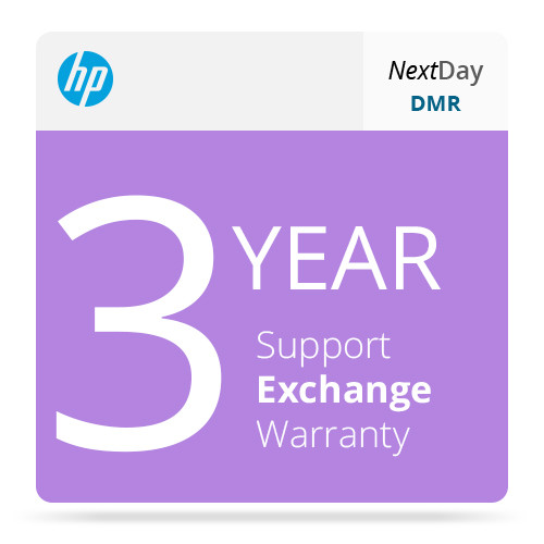 HP 3-Year Next Business Day Exchange & Defective Media Retention for LaserJet M602 Series Printers