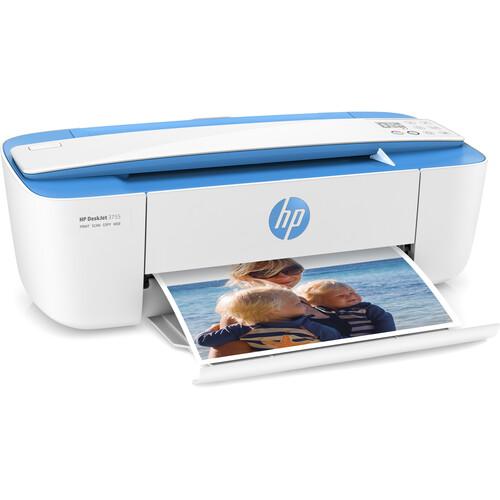 HP DeskJet 3755 All-in-One Inkjet Printer (Blue)