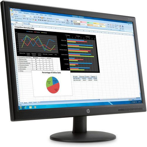 "HP K0Q34AA V241p 23.6"" Widescreen LED Backlit LCD Monitor"
