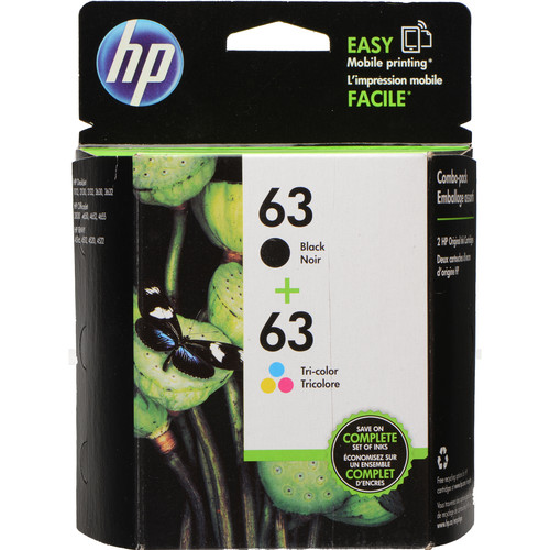 HP 63 Tri-Color/Black Ink Cartridge Pack