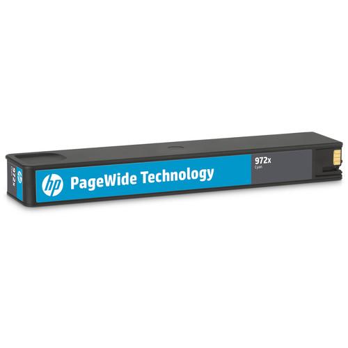 HP 972X High Yield Cyan Original PageWide Cartridge