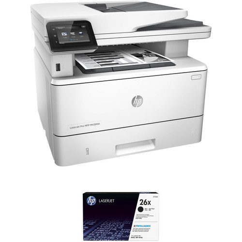 HP LaserJet Pro M426fdn All-in-One Printer with Extra 26X Black Toner Kit