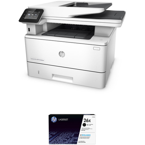 HP LaserJet Pro M426fdw All-in-One Printer with Extra 26X Black Toner Kit