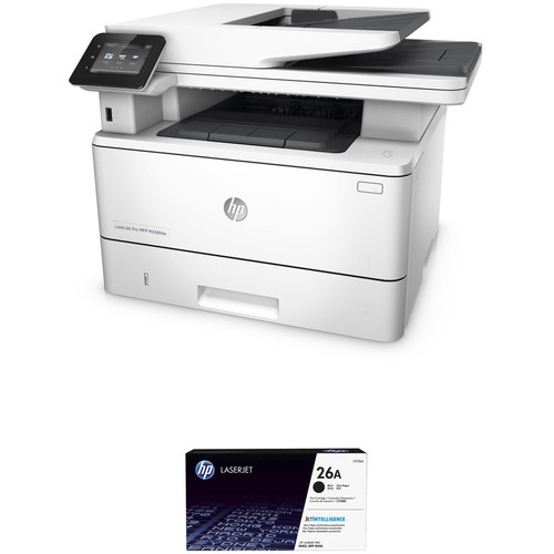 HP LaserJet Pro M426fdw All-in-One Printer with Extra 26A Black Toner Kit