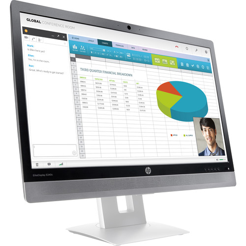 "HP EliteDisplay E240c 23.8"" 16:9 Video Conferencing IPS Monitor (Head Only)"