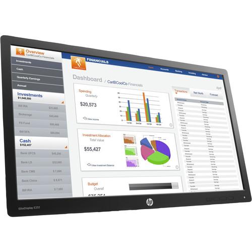 """HP EliteDisplay E232 23"""" 16:9 IPS Monitor (Head Only, Smart Buy)"""