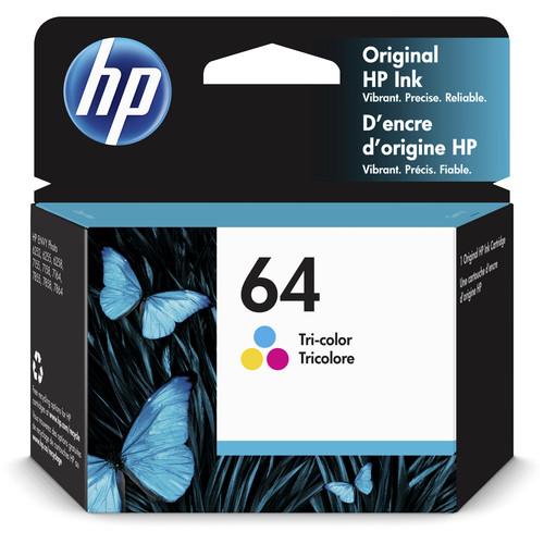 HP 64 Tri-Color Ink Cartridge (4mL)