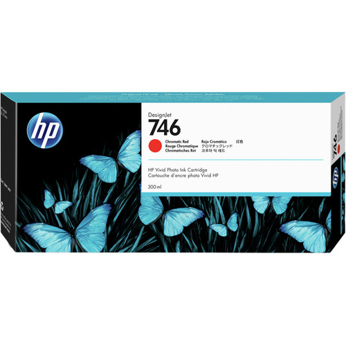 HP 746 Designjet Chromatic Red Ink Cartridge (300mL)
