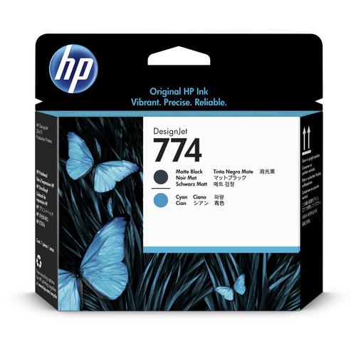HP 774 Matte Black & Cyan DesignJet Printhead