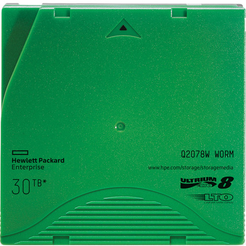 Hewlett Packard Enterprises LTO-8 30TB Ultrium Non-Custom Labeled Tape Cartridge (20-Pack)