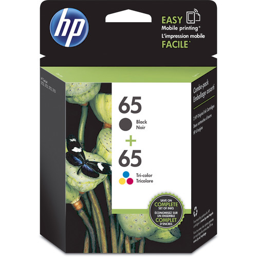 HP 65 Black & Tri-Color Ink Cartridge Set