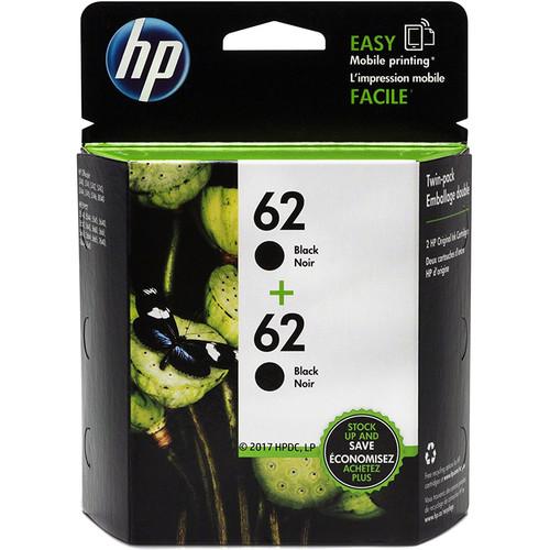 HP 62 Black Ink Cartridge (2-Pack)