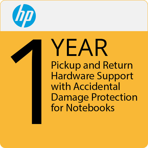 HP 1-Year Pickup and Return Hardware Support with Accidental Damage Protection for Notebooks