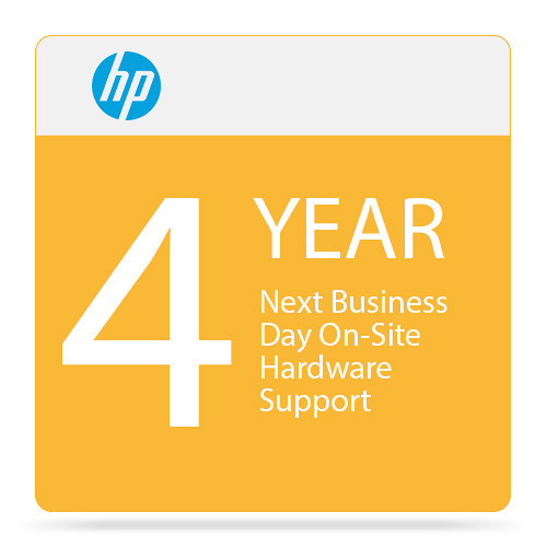 HP Next Business Day On-Site Hardware Support with Defective Media Retention for Select Laptops and Workstations (4-Year)