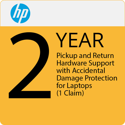 HP 2-Year Pickup and Return Hardware Support with Accidental Damage Protection for Laptops (1 Claim)