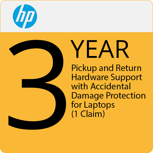 HP 3-Year Pickup and Return Hardware Support with Accidental Damage Protection for Laptops (1 Claim)