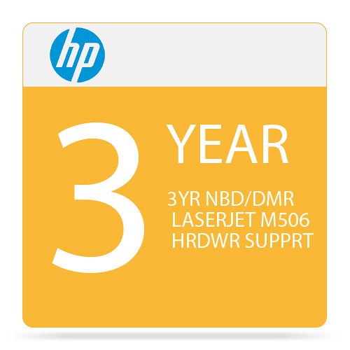 HP 3-Year Next Business Day & Defective Media Retention Care Pack for M506-Series Printers