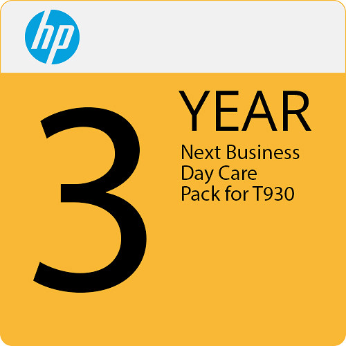 """HP 3-Year Next Business Day Onsite Service with Defective Media Retention for DesignJet T930 36"""" Printer"""