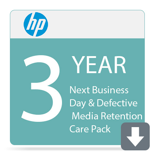 HP 3-Year Next Business Day & Defective Media Retention Care Pack for LaserJet Enterprise M607 Series