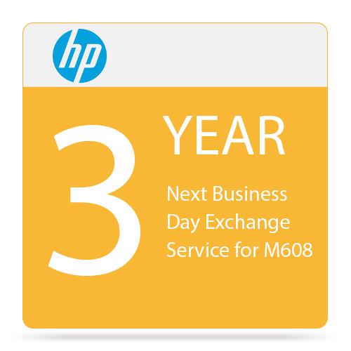 HP Next Business Day Exchange Service for LaserJet Enterprise M608 (3 Years)