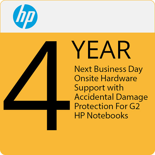 HP 4-Year Next Business Day Onsite Hardware Support with Accidental Damage Protection G2 for Notebooks
