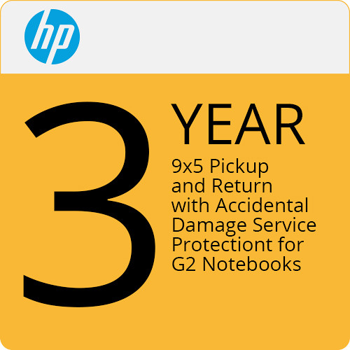 HP 3-Year Pickup and Return Hardware Support with Accidental Damage Protection G2 for Notebooks