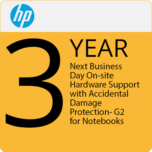 HP 3-Year Next Business Day Onsite HW Support with Accidental Damage Protection G2 for Laptops