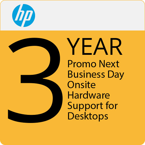 HP Promo 3 Year Next Business Day Onsite Hardware Support For Desktops