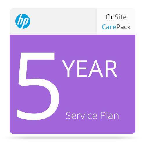 HP 5-Year Next Business Day On-Site Service w/ Defective Media Retention