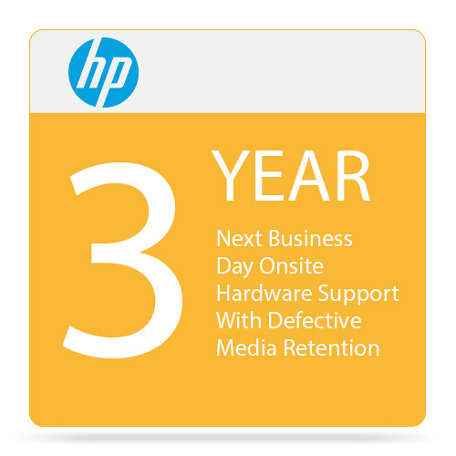 HP 3-Year Next Business Day Onsite Hardware Support with Defective Media Retention for Desktops