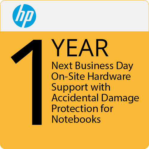 HP 1-Year Next Business Day On-Site Hardware Support with Accidental Damage Protection for Notebooks