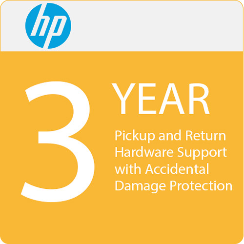 HP 3 Yr Pickup Return HW Support W/Accidental Damage Protection-G2/Defective Media Retention f/NB